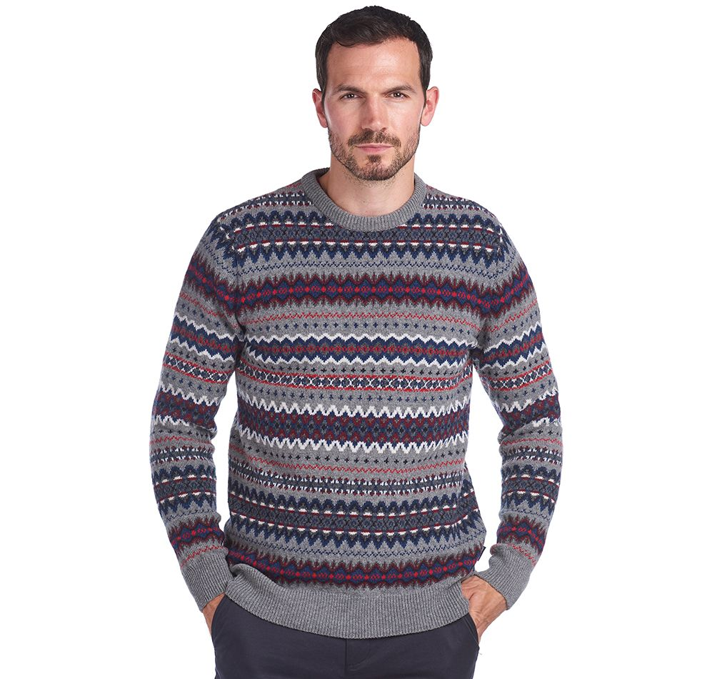 Barbour Case Fairisle Crew Neck Sweater