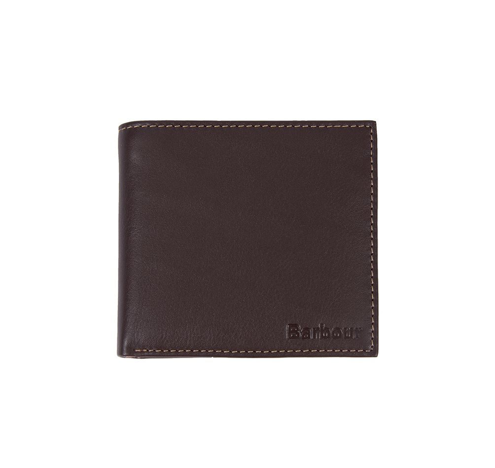 Barbour Elvington Leather Billfold Coin Wallet