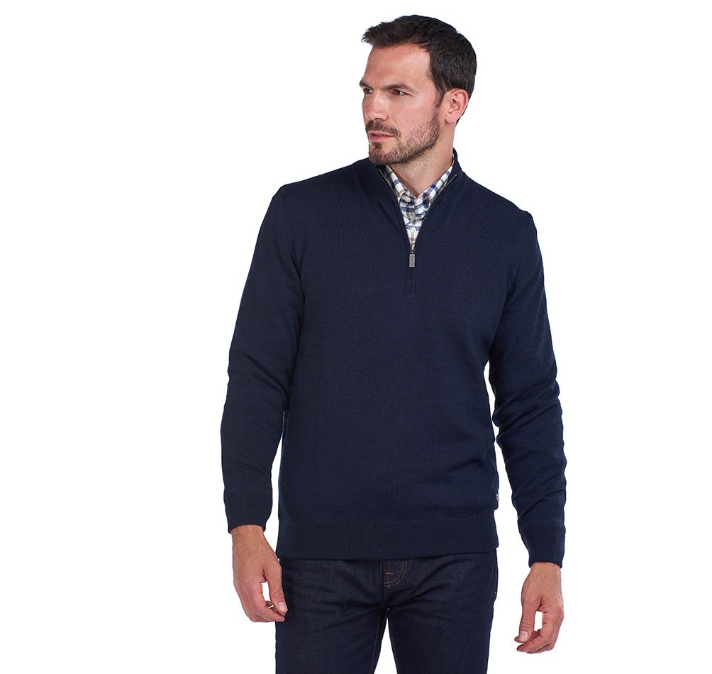Barbour Gamlan Half Zip Sweater